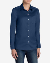 Eddie Bauer Women's Wrinkle-Free Boyfriend Long-Sleeve Shirt