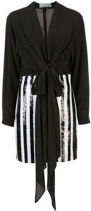 Silvia Tcherassi striped sequin embellished dress