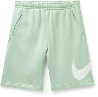 Nike Sportswear Club Fleece-Back Cotton-Blend Jersey Drawstring Shorts