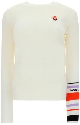 Valentino Striped Sleeve Pullover