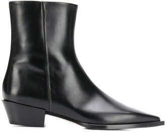 AEYDĒ 50mm Ruby pointed toe boots