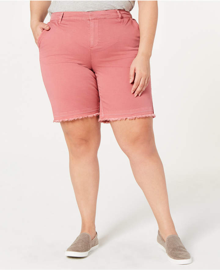 Style&Co. Style & Co Plus Size Released Hem Shorts, Created by Macy