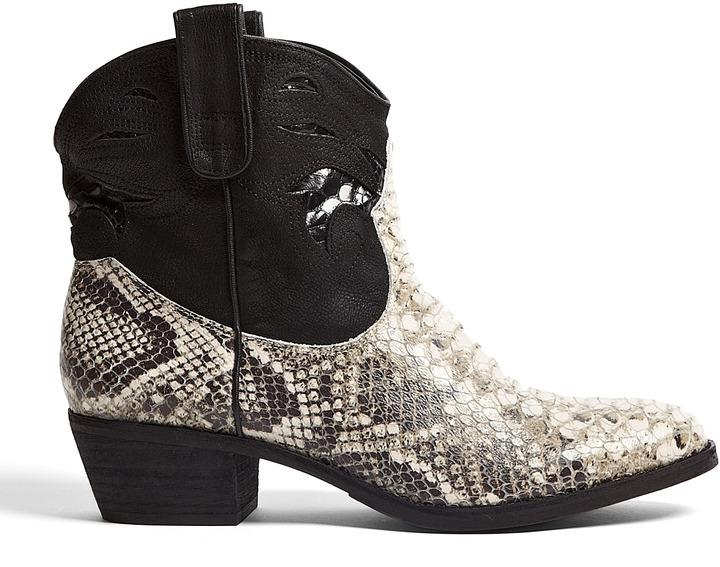 Sam Edelman Short Snake Stevie Cowboy Boots