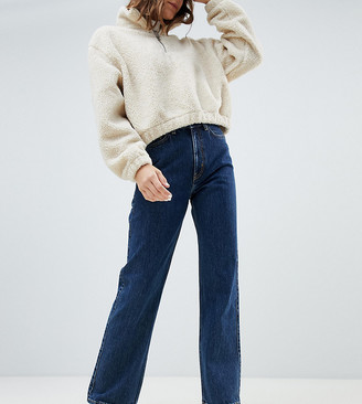 Weekday Row organic cotton high waist jeans in win blue