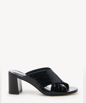 Sole Society Women's Ganezah Criss Cross Sandals Black Size 5 Leather From