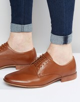 Asos Derby Shoes in Tan With Natural Sole