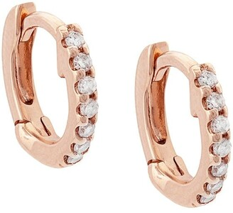 Dana Rebecca Designs 14kt Rose Gold Diamond Mini Huggies
