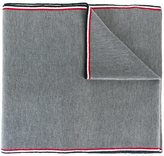 Moncler striped trim scarf - men - Virgin Wool - One Size