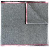 Moncler striped trim scarf