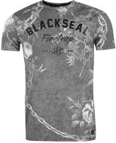 Firetrap Blackseal Chained Floral T Shirt