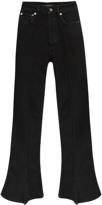 Y/Project Trumpet high-waist bootcut jeans
