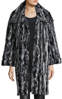Faux-Fur Easy Coat, Plus Size