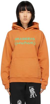 Brain Dead Orange New Flesh Hoodie