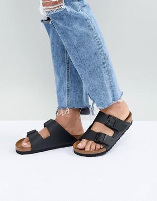 Birkenstock arizona black flat sandals