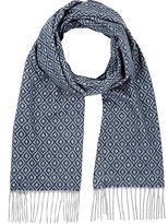 Colombo MEN'S DIAMOND-PRINT CASHMERE SCARF