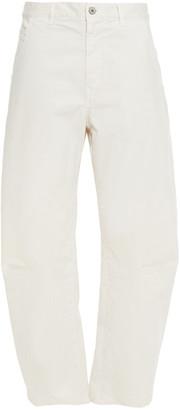 Nili Lotan Emerson Cropped Cotton-blend Twill Tapered Pants