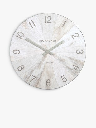 Thomas Laboratories Kent Wharf Wall Clock, 76cm, Pickled Oak