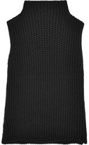 Madewell Veranda Ribbed Cotton-blend Turtleneck Top - Black