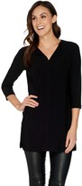 Women With Control Attitudes by Renee Como Jersey Collarless Tunic w/Pockets