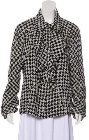 Chanel Silk Houndstooth Jacket w/ Tags