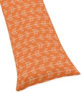 Sweet Jojo Designs Arrow Body Pillowcase in Orange/Navy