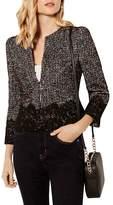 Karen Millen Lace-Trim Tweed Jacket