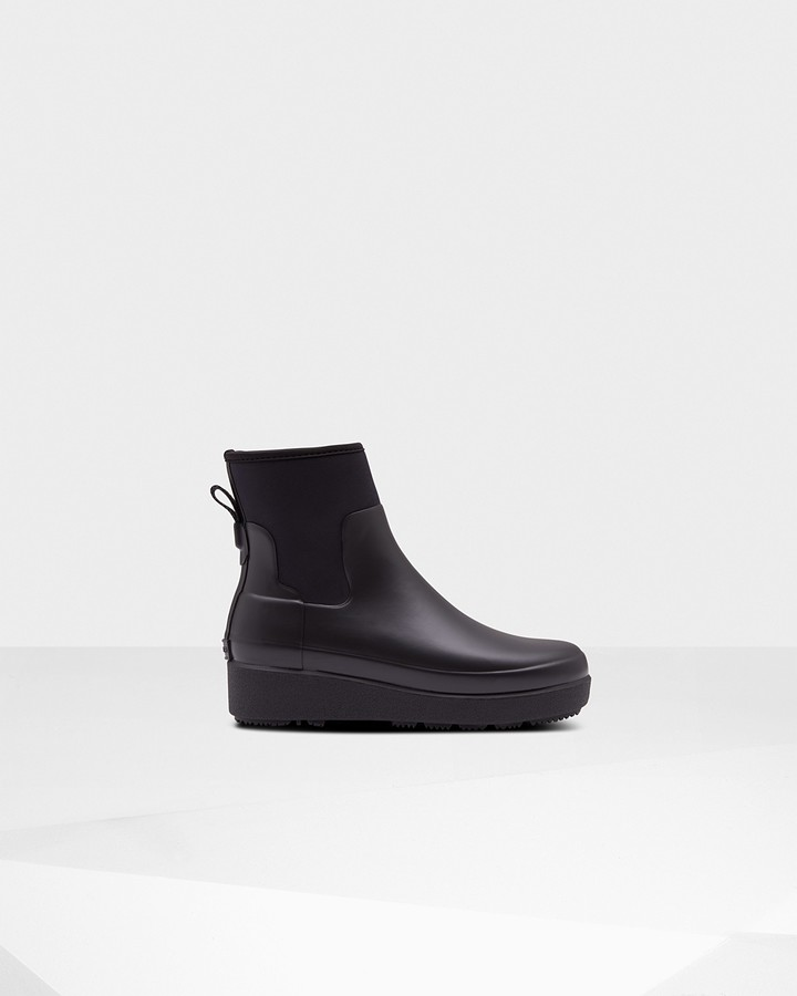 Hunter Women's Refined Slim Fit Neoprene Creeper Chelsea Boots