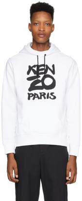 Kenzo White Paris Hoodie