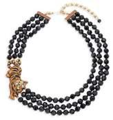 Heidi Daus Tiger Beaded Crystal Multi-Strand Necklace