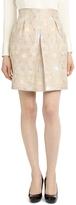 Brooks Brothers Petite Front Pleat Jacquard Skirt