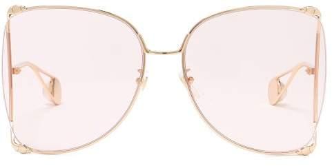 fa548a747 Gucci Pink Women's Sunglasses - ShopStyle