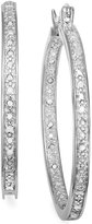 Townsend Victoria Rose-Cut Diamond Hoop Earrings in Sterling Silver (1/2 ct. t.w.)