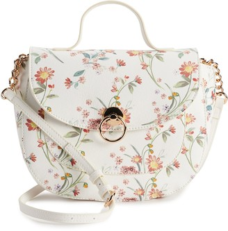 Lauren Conrad Floral Crossbody Saddle Bag