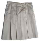 Prada Ecru Silk Skirt