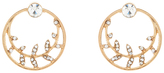 Accessorize Vine Disc Front And Back Earrings