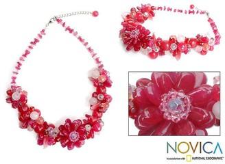 Novica Handmade 'Sweet Spirit' Rose Quartz Choker Necklace