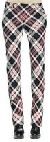 Alexander McQueen Plaid Pleated-Front Straight-Leg Pants