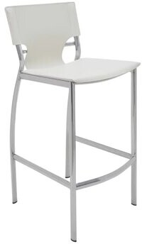 """Leather 25.5"""" Bar Stool (Set of 2) American furniture brand Color: White"""