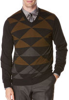 Perry Ellis V-Neck Jersey Pullover