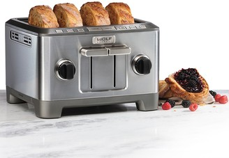 Wolf Gourmet 4-Slice Toaster with Silver Knobs