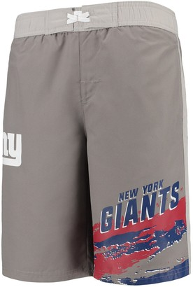Outerstuff Youth Charcoal New York Giants Heat Wave Swim Trunks