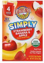 Earth's Best Organic .52 oz. Simply Strawberry Banana & Apple Freeze Dried Fruits