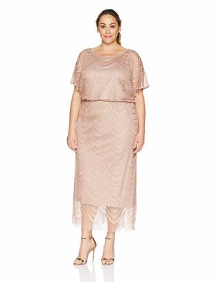 SL Fashions Women's Plus Size Long Blouson Column Dress