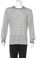 Armani Collezioni Striped Silk Sweater