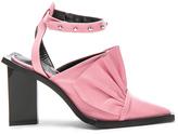 Marques Almeida Marques ' Almeida Point Frill Leather Heels