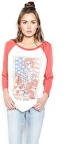Lauren Moshi Maglan Boyfriend Raglan Top in Faded