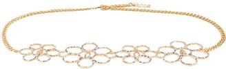 GCDS Floral Diamante Chain Belt