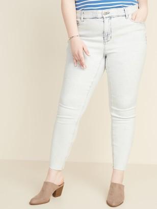 Old Navy High-Waisted Secret-Slim Pockets + Waistband Plus-Size Rockstar Super Skinny Frayed-Hem Jeans