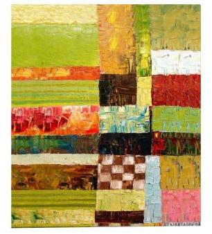 STUDY Trademark Fine Art 35 in. x 47 in. Abstract Color Canvas Art