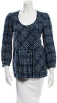 Etoile Isabel Marant Plaid Scoop Neck Top